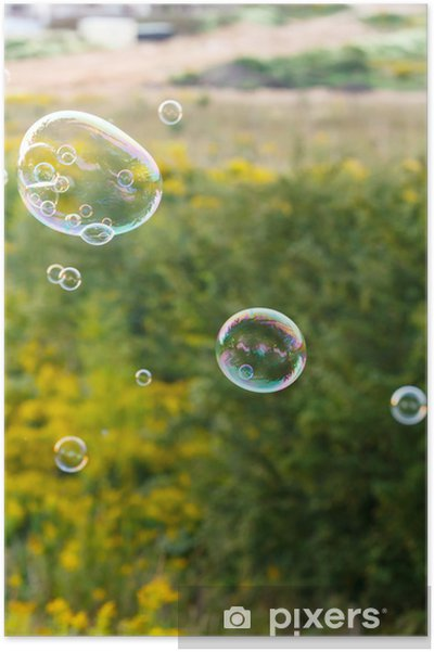 Póster Al aire libre de la burbuja de jabón - Juegos