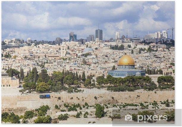 Poster Al-Aqsa de la vieille ville - Moyen Orient