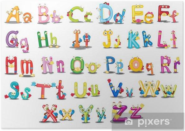 Poster Alfabet tekens - Thema's