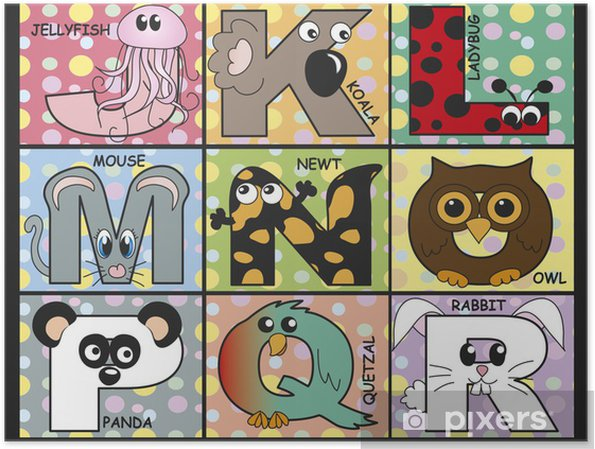 Póster Alfabeto animal - Educación