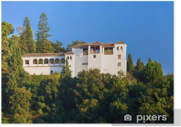Poster Alhambra de Grenade. Vue extérieure de la Generalife - Monuments