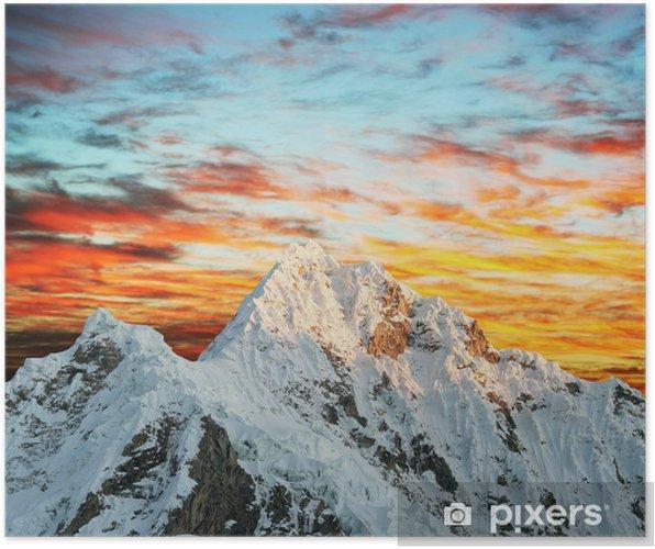 Poster Alpamayo sommet - Merveilles naturelles