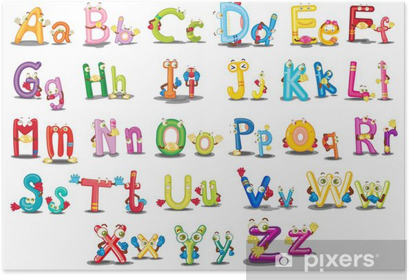 Alphabet characters Poster - Themes