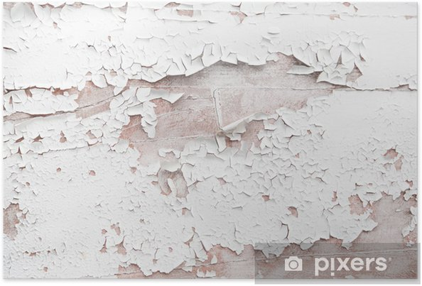 Shabby Chic Holz altes holz - shabby chic rustikaler hintergrund mit farbe ab poster