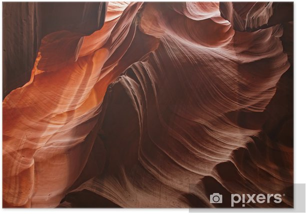 Amazing shot at the Grand Canyon inside cave Antelope Poster - Caves