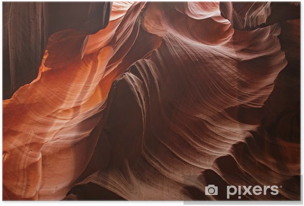 Poster Amazing shot dans le Grand Canyon à l'intérieur de la grotte d'antilope - Grottes