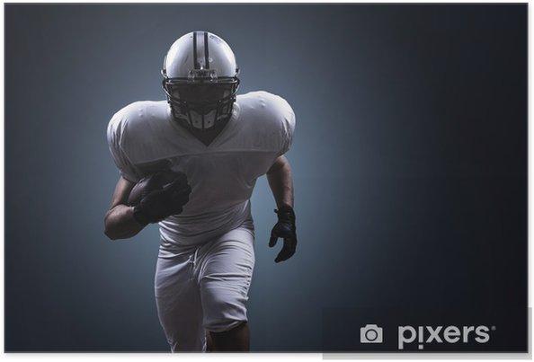 Poster American Football Running - Amerikansk Fotboll