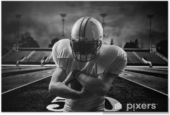 Poster Amerikansk fotboll Running Back in action on stadium - Amerikansk Fotboll