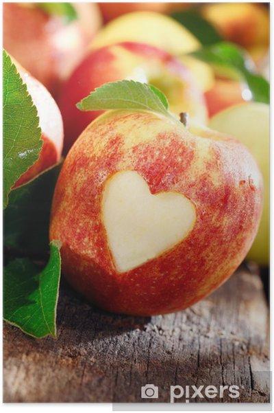 Poster Amour de pommes notion - Fruits