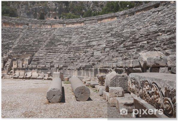 Poster Amphithéâtre antique de Myra (Turquie) - Europe