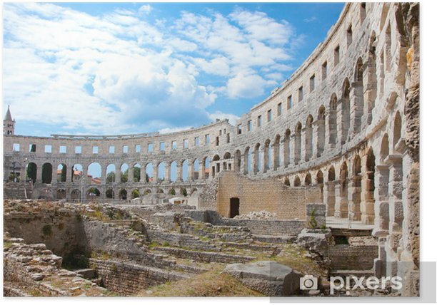 Poster Amphithéâtre romain (Arena) à Pula. Croatie. - Thèmes