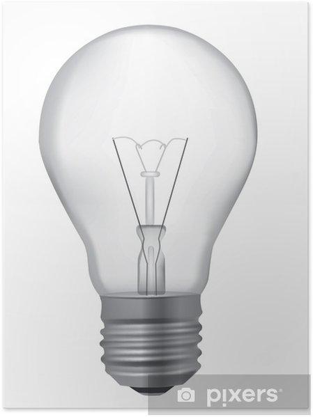 Poster Ampoule Dessin Realiste Pixers Nous Vivons Pour Changer