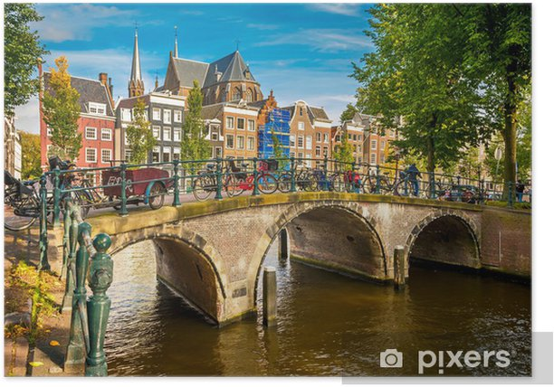 Amsterdam cityscape Poster - Themes
