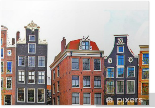 Amsterdam . traditional houses border Poster - iStaging