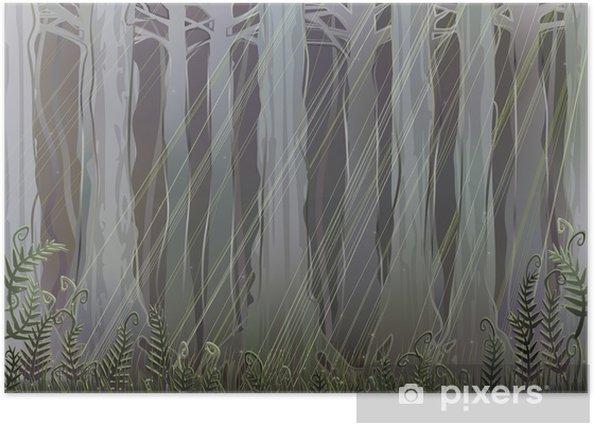 Poster Ancienne forêt magique - Nature et régions sauvages