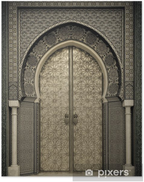 Ancient doors, Morocco Poster - Themes