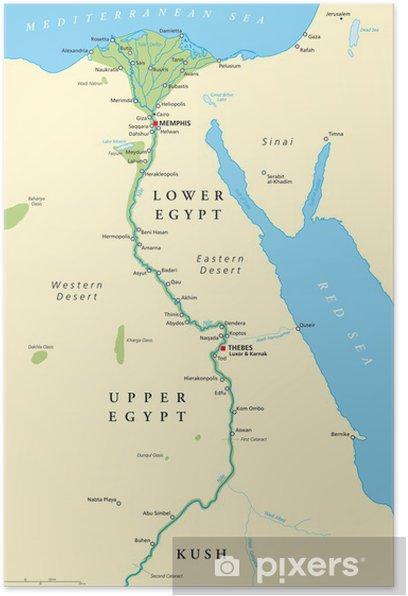 Ancient Egypt Map Altes Agypten Landkarte Poster Pixers We