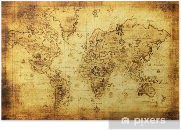ancient map of the world Poster -