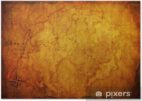Ancient Map Old Paper Texture Poster Pixers 174 We Live