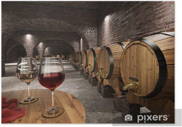 Ancient wine cellar Poster - Wine