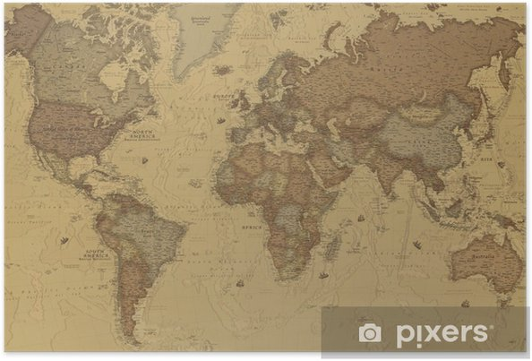Poster Ancient World map - iStaging