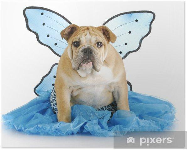 Poster Ange de chien - Fêtes internationales