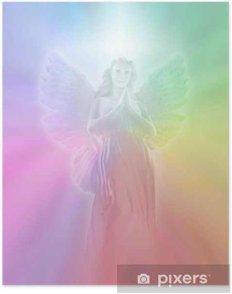 Angel of Divine Light, soft blur Poster - Themes