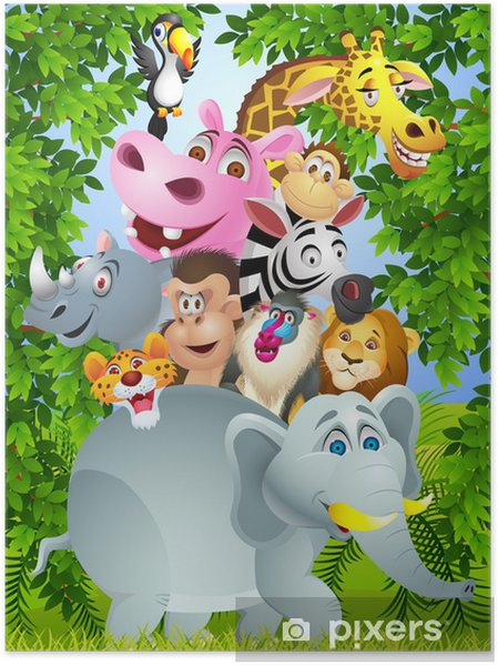 Poster Animal cartoon - Pour élève