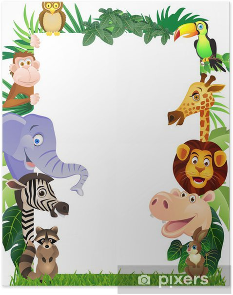 Poster Animal cartoon - Animaux marins