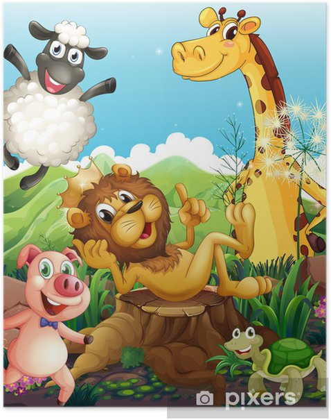 Poster Animaux espiègles - Mammifères