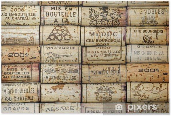 Póster Antecedentes de corchos de vino - iStaging