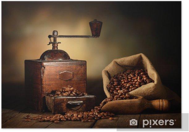 antico macinino da caffè Poster -