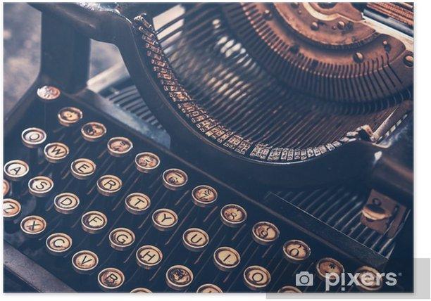 Poster Antieke schrijfmachine - Andere objecten