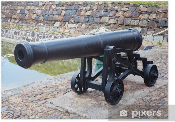 Poster Antique fonte de canons de fer au Château de Bonne Espérance, le cap - Afrique