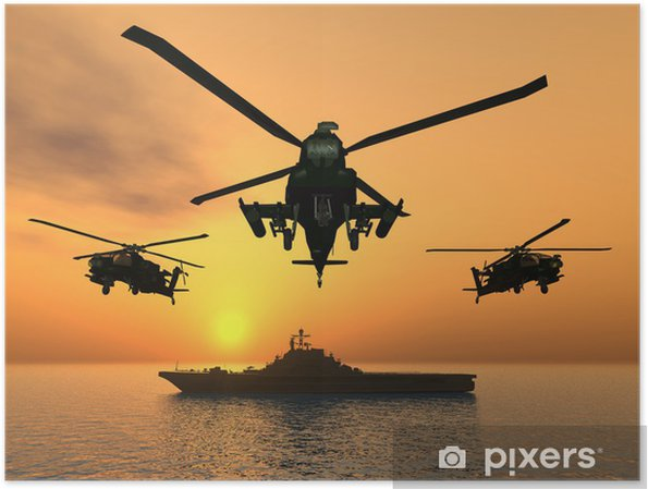Poster Apache helikopter - Thema's