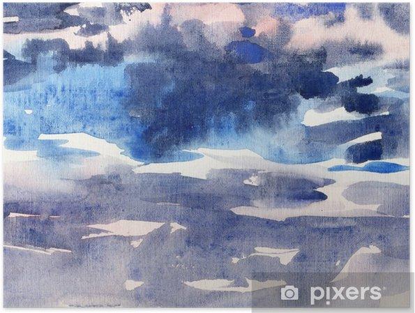 Poster Aquarel achtergrond sky - Grafische Bronnen