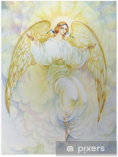 "Poster Aquarelle ""Angel"" - Thèmes"