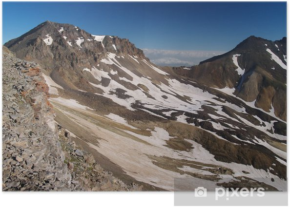 Poster Aragats crête du volcan, l'Arménie - Montagne