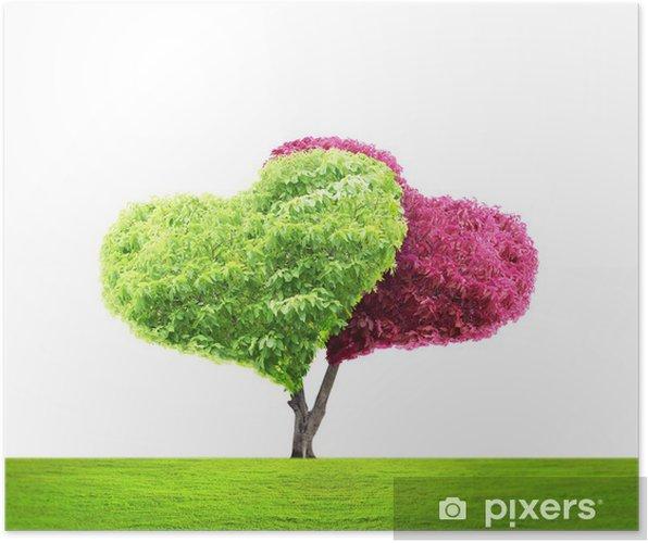 Póster árbol En Forma De Corazón Pixers Vivimos Para Cambiar