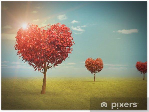 Arboles En Forma De Corazón Poster Pixers We Live To Change