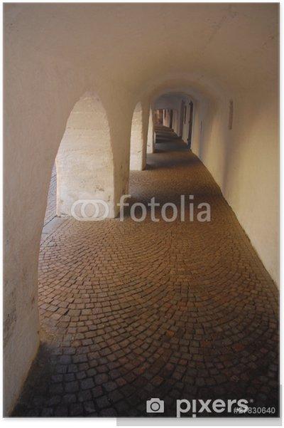Poster Arcades Via Glorenza - Europe