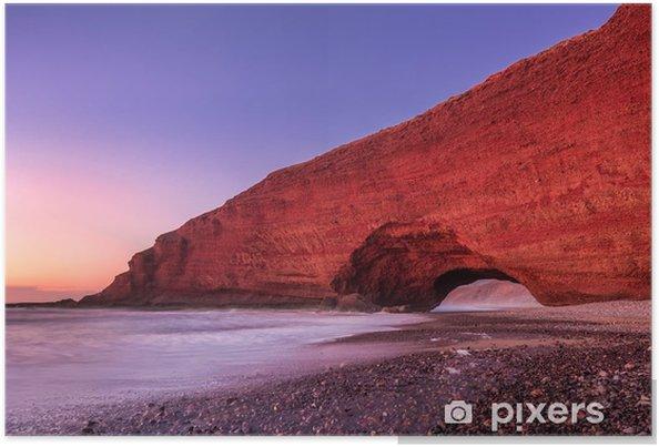 Poster Arches rouges de plage Legzira - Paysages