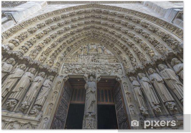 Architectural Detail of Notre-dame de paris entrance Poster - Monuments