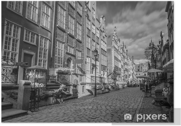 Architecture of Mariacka street in Gdansk, Poland Poster - iStaging
