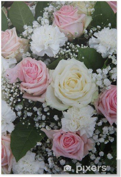 Poster Arrangement de fleurs pour la mariée en rose et blanc - Célébrations