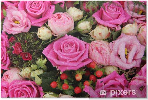 Poster Arrangement de fleurs rose pour un mariage - Célébrations