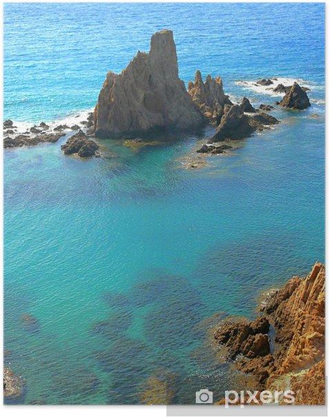 Arrecife de las Sirenas en Cabo de Gata Poster - Holidays