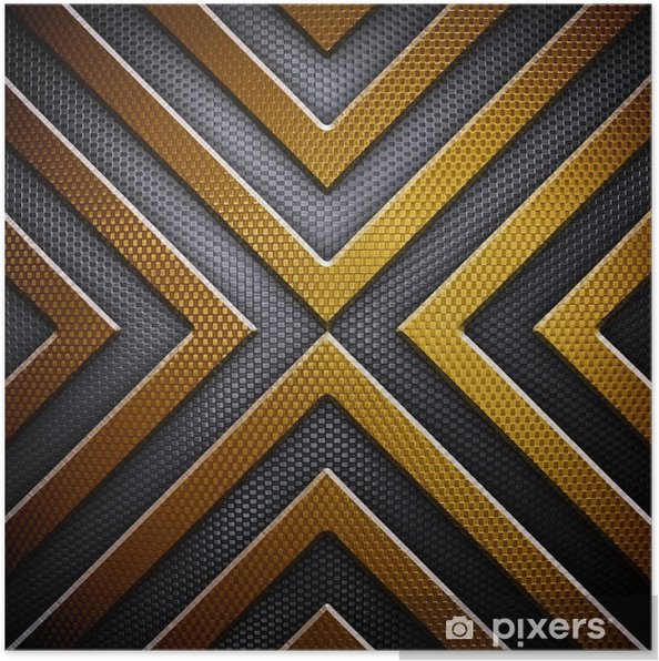 Poster Arrière-plan de conception en métal - Textures