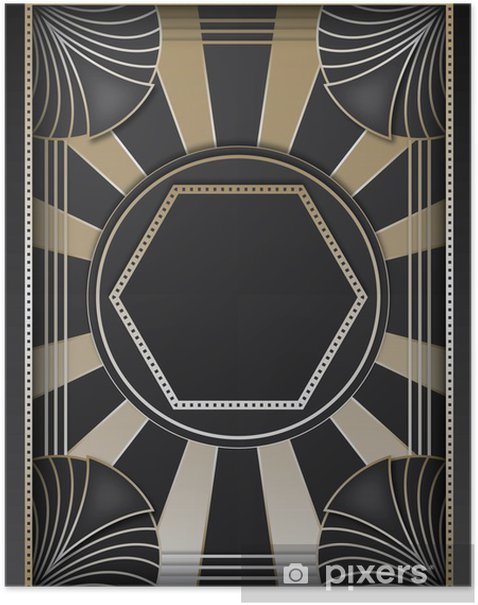 Art Deco Background and Frame Poster - Fashion