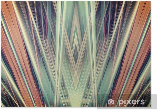 Art Deco spotlights background Poster - Styles